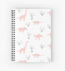 Cuaderno de espiral Dinosaurios rosas