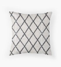 Berber Shaggy Rug Geometric black and white | Texture #home #lifestyle Throw Pillow