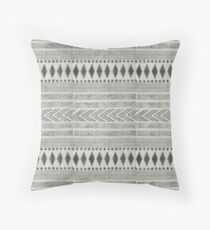 Navajo Rug Geometric black and white | Texture #home #lifestyle Throw Pillow
