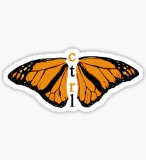 CTRL BUTTERFLY Sticker