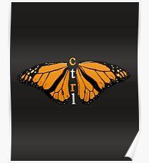 CTRL BUTTERFLY Poster