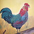 Rooster oil painting by coolart