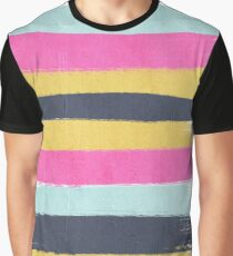 Sacha - striped pattern painting minimal stripes trendy color palette Graphic T-Shirt