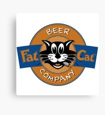The Fat Cat Beer Company Canvas Print