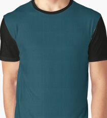 Kingfisher Blue | Solid colour Graphic T-Shirt