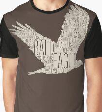 Word Cloud Wildlife: Leucocephalus (Bald Eagle) Graphic T-Shirt