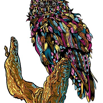 Psychedelic Owl by PopLiturgy