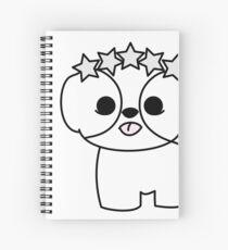 Shih Tzu Puppy with Star Crown Spiral Notebook