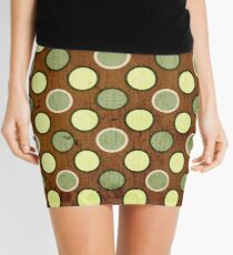 Vintage Retro Polkadot Brown Pattern Mini Skirt