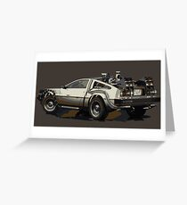 Back to the future Delorean Brown | Car | Cult Movie Greeting Card