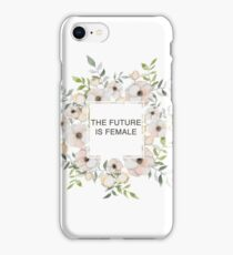 The future is female | Floral Wreath | Feminism iPhone Case/Skin