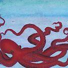 burgundy octopus by Charis Woodrow