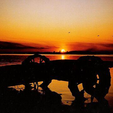 Sunset on Lake Wahtoponak by umpa1