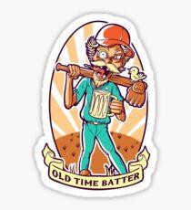 Drunkard Baseball PLAYER - Cinnabar RED Sticker