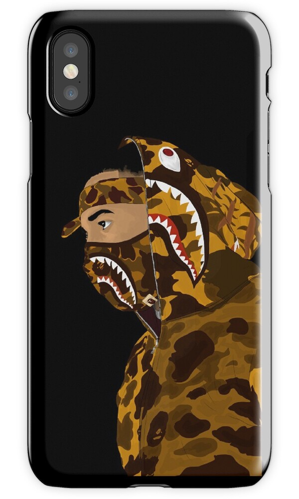 bape iphone case quot draped in bape black quot iphone cases amp skins by 3340