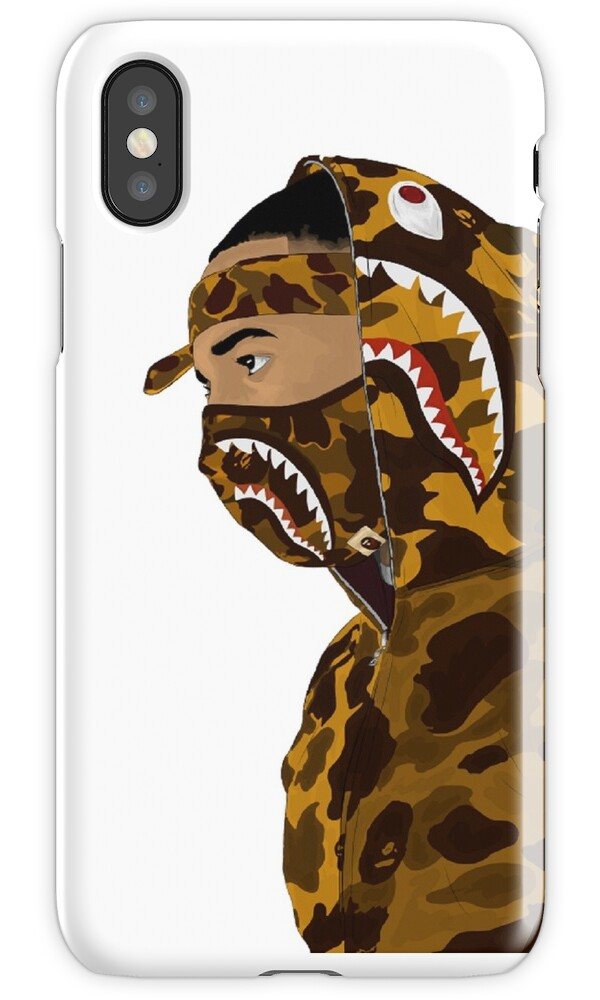 bape iphone case quot draped in bape white quot iphone cases amp covers by 3340