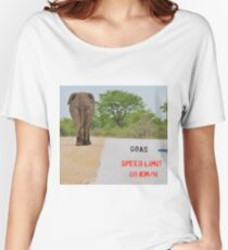 Elephant - Tourists go Slow Women's Relaxed Fit T-Shirt