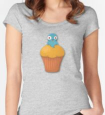 Happy Halloween Muffin Slimer Women's Fitted Scoop T-Shirt