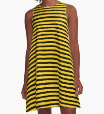 Black and Yellow Bee | Stripes | Halloween Outfit A-Line Dress