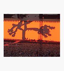 U2 Joshua Tree Tour 2017 Twickenham UK Photographic Print