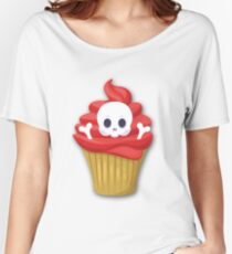 Happy Halloween Muffin Skull Women's Relaxed Fit T-Shirt