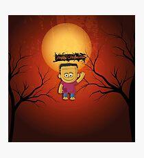 Happy Halloween Frankenstein Photographic Print