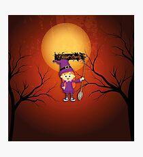Happy Halloween Hexe Photographic Print