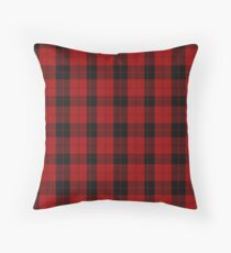 Red and Black | Campbell Clan Scottish Tartan #home #lifestyle Throw Pillow