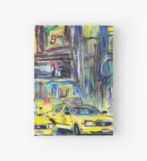 Taxis in New York Hardcover Journal