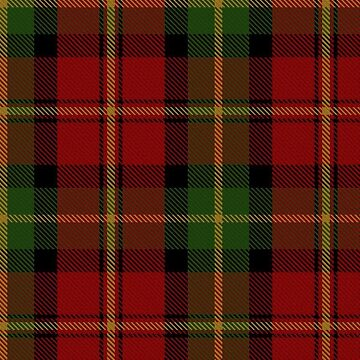 Red and Green | Scottish Clan Tartan by koovox