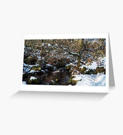 Burbage Brook in Winter Greeting Card
