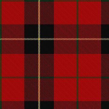Red, black and yellow | Clan | Scottish tartan  by koovox