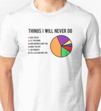 Things I will never do Unisex T-Shirt