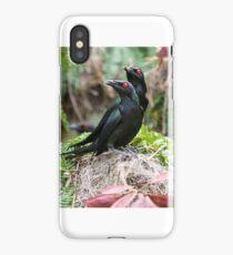 Metallic starlings nesting iPhone Case