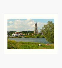 Summer riverland at Rhenen Art Print
