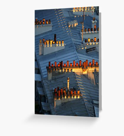 Red and orange chimneys Greeting Card