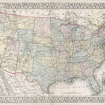 Vintage USA Map by crazycanonmom