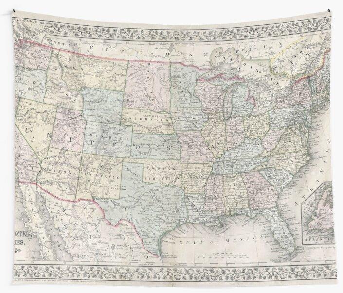 Vintage USA Map\