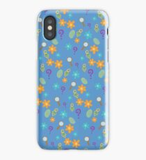 Mystery Inc Patter (Blue) iPhone Case/Skin