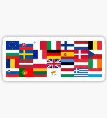 Europe Flags | European Union | Globetrotter Sticker