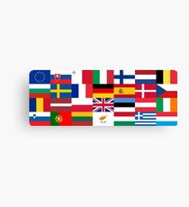 Europe Flags | European Union | Globetrotter Canvas Print