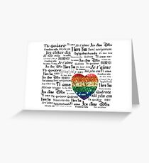 Love foreign languages Greeting Card