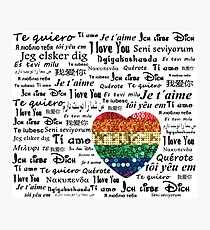 Love foreign languages Photographic Print