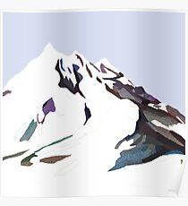Mountains In The Cold Design Poster