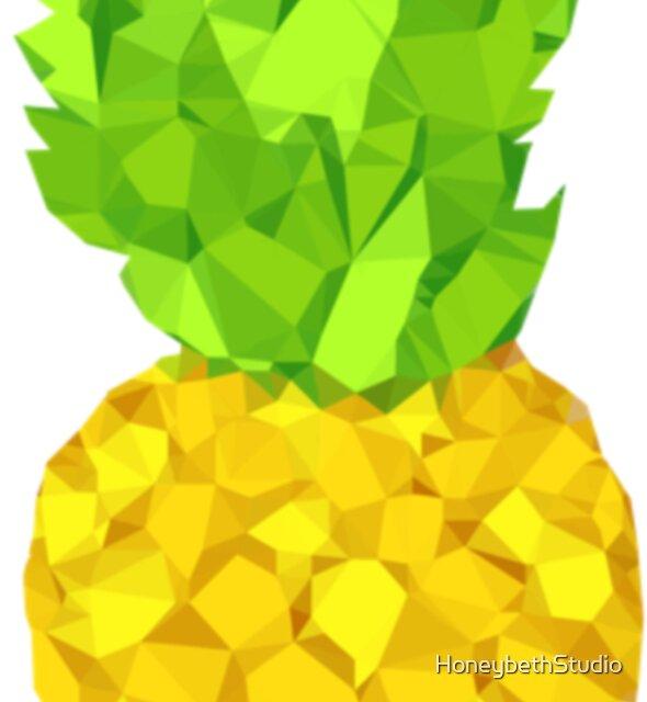 Bright Abstract Pineapple Design by HoneybethStudio