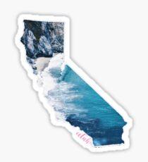 California Coastal Silhouette Sticker