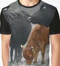Cows in a field on a rainy day  Graphic T-Shirt