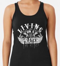 Living On a Prayer Racerback Tank Top