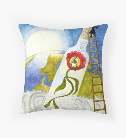 Global warming Throw Pillow