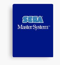 Sega Master System - Outlined Canvas Print